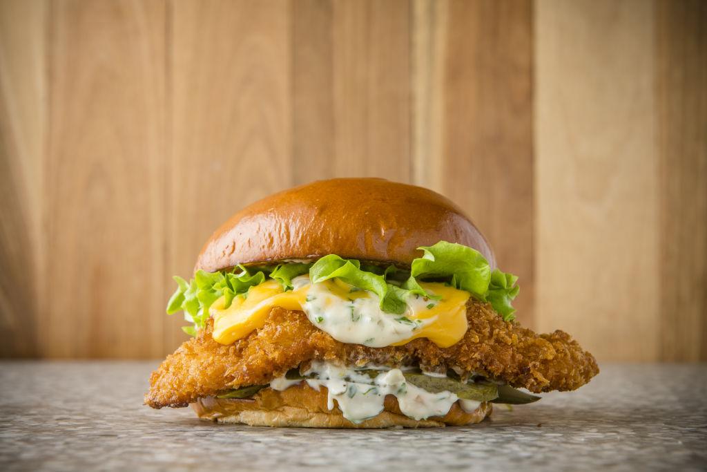 Dlish fish burger at 300 Grams.