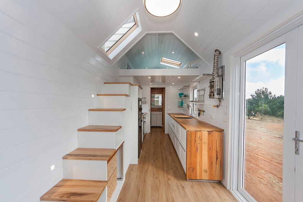 The delightful Tiny Footprint home on wheels.