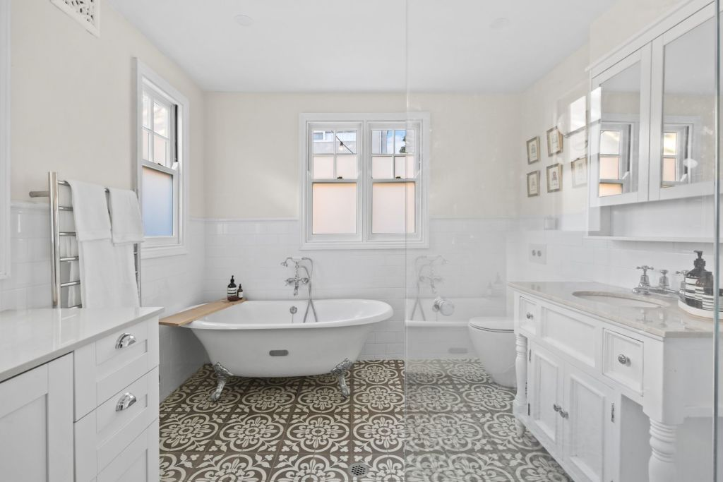A large bathroom at the rear of a terrace takes up prime real estate. Creating a compact bathroom in the middle of the floor plan might be a more efficient use of space.