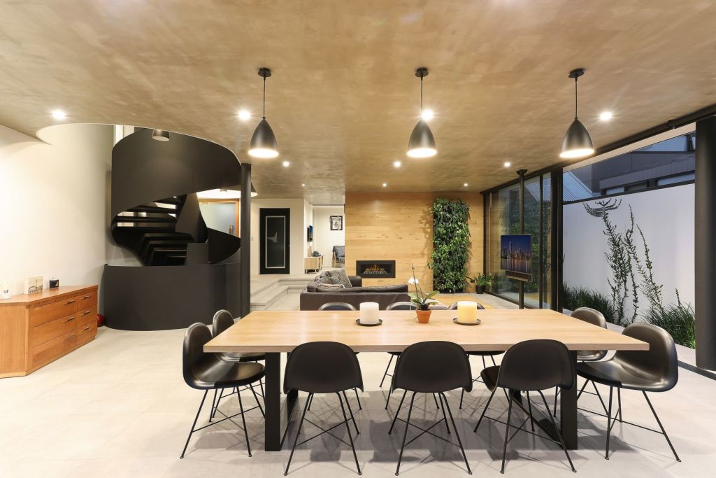 The home has 495sqm of combined interior living space.