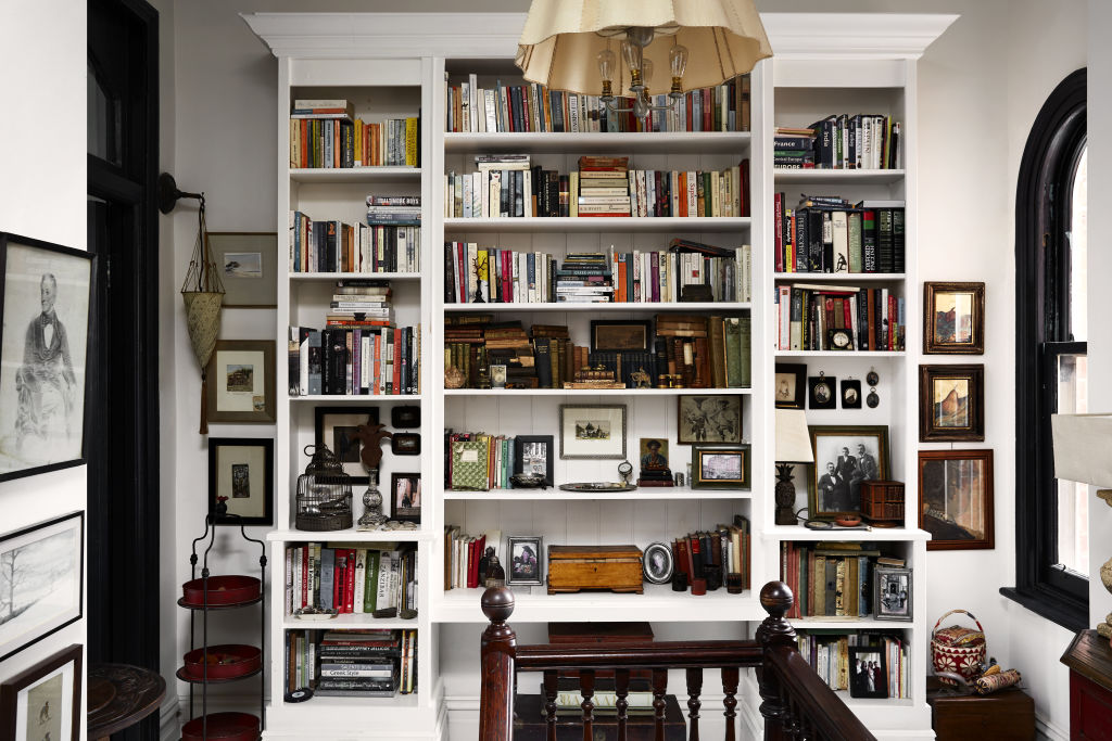 A magnificently full and curated bookcase! Styling: Annie Portelli.