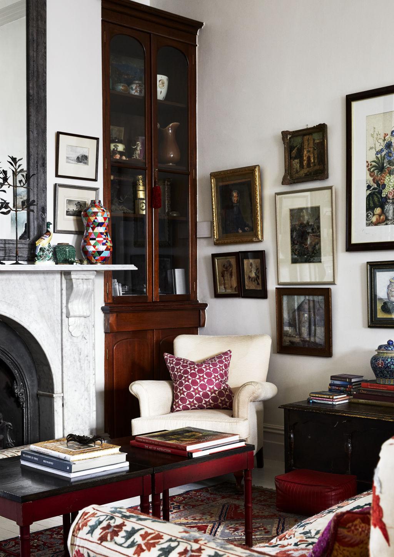 A corner of the sitting room. Vanderhurd cushion. Styling: Annie Portelli.