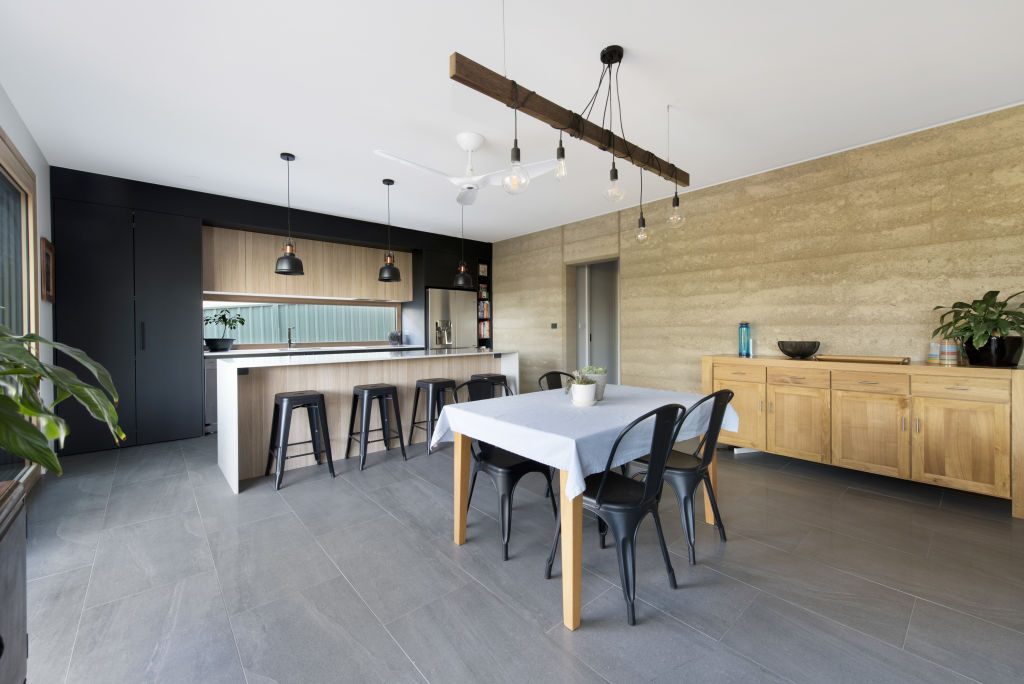 Waramanga house made of rammed earth open as part of Sustainable House Day