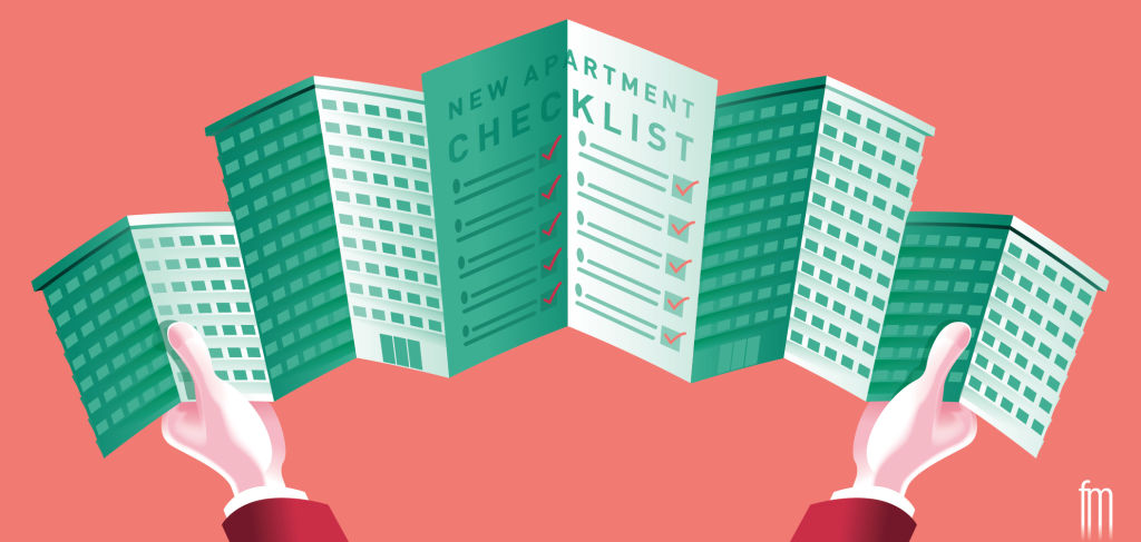 New apartment checklist illustration by Frank Maiorana NOT FOR REUSE