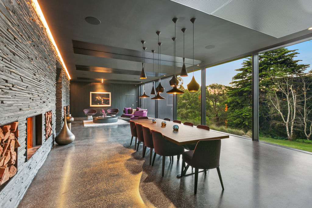 The home's interiors are large and expansive.