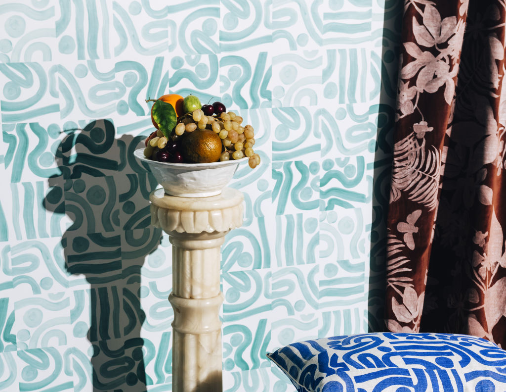 Ocean Sea Blue Wallpaper by Bonnie and Neil NOT FOR REUSE