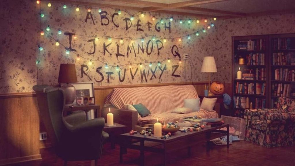 Ikea's suggestions for how to recreate the Stranger Things living room are complete down to which paint to use for the alphabet on the walls.