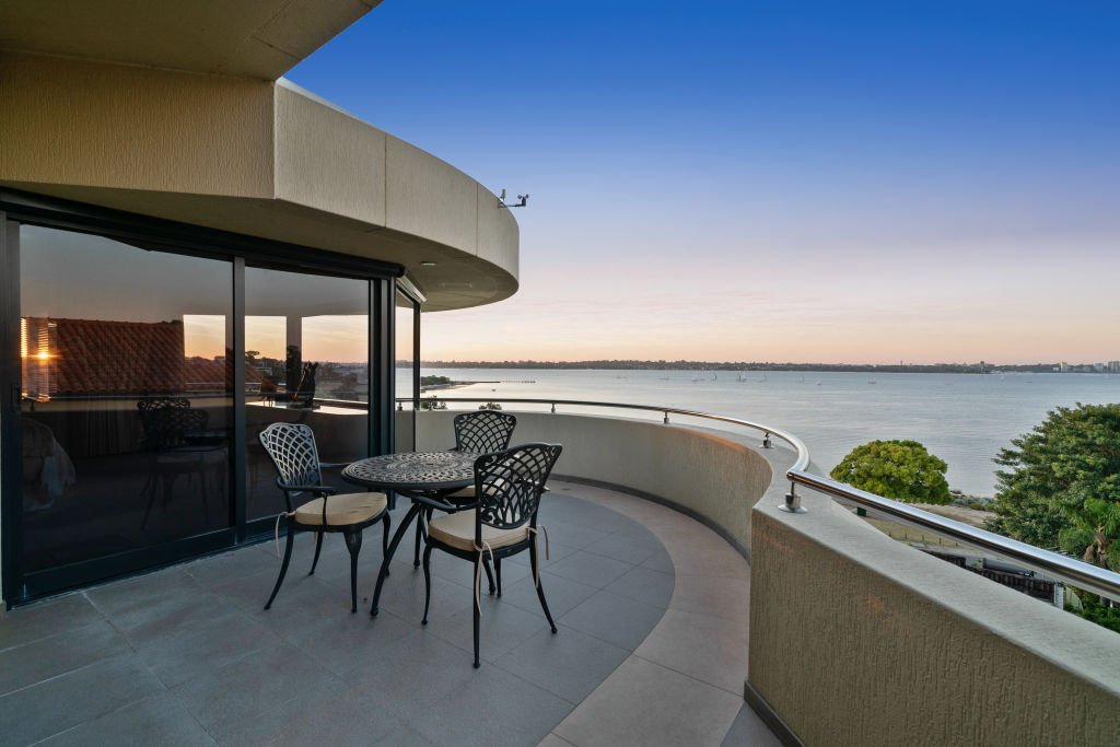 Views of Swan River is a key selling point of the home.