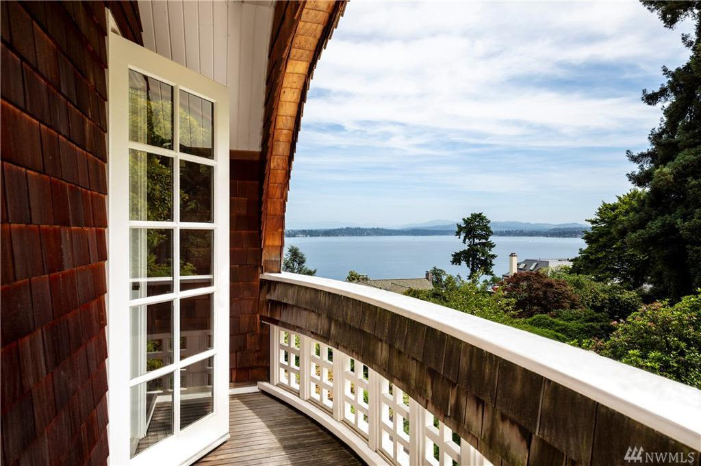 The home has views of Lake Washington.