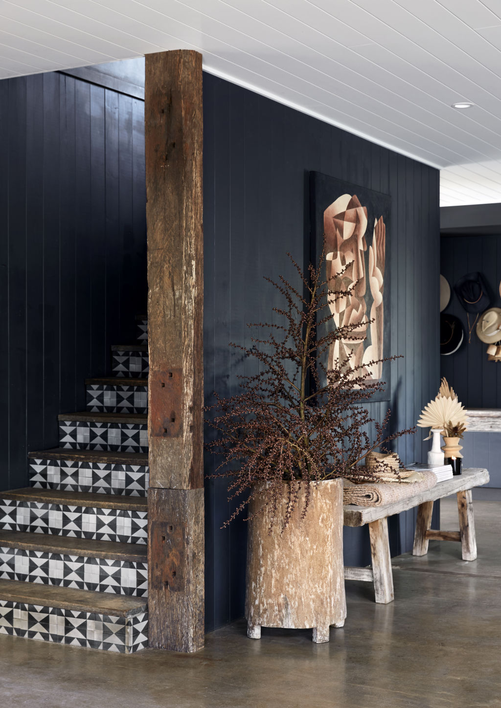 Detail of the living area. Styling: Annie Portelli.