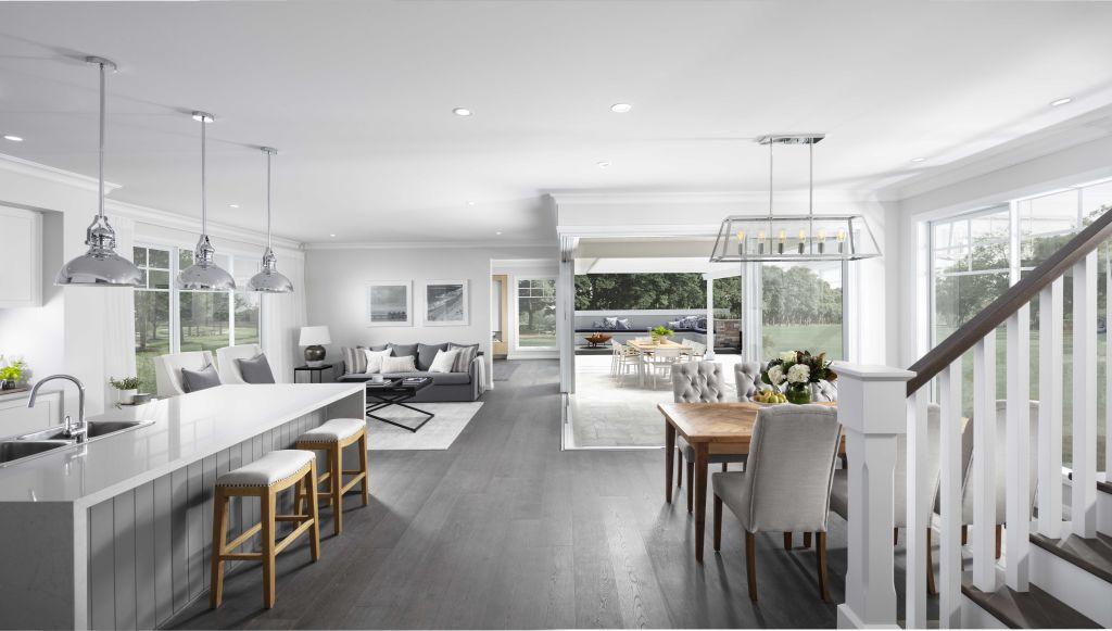 Coral Homes Hamptons design living