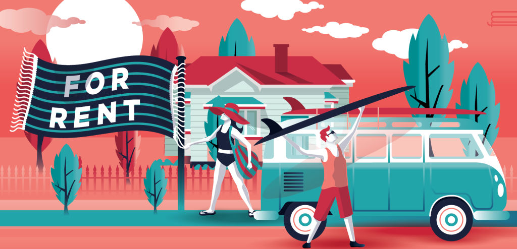 How to rent your home out for the summer illustration NOT FOR REUSE