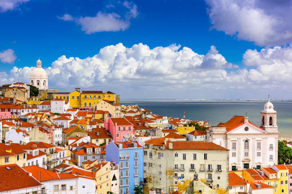 The cityscape in Lisbon in the Alfama District