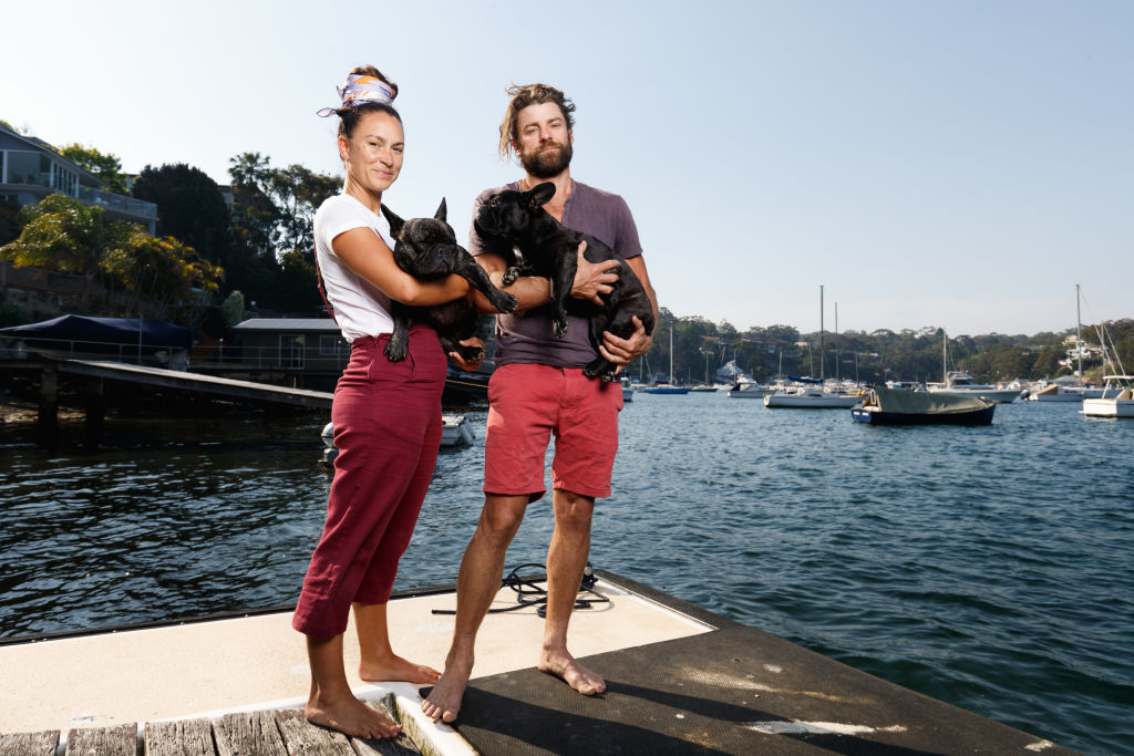 Richard Whitfield and Simone Pritchard in Dolans Bay