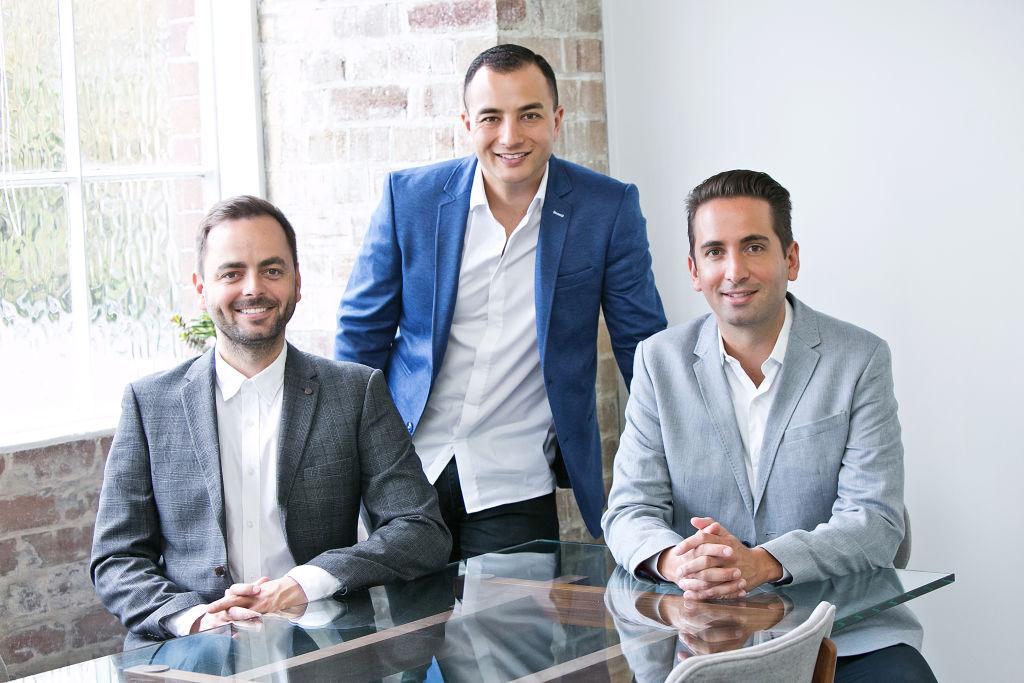 FutureRent co-founders Nicholas Andrijic, Godfrey Dinh and Michael Andrijic.