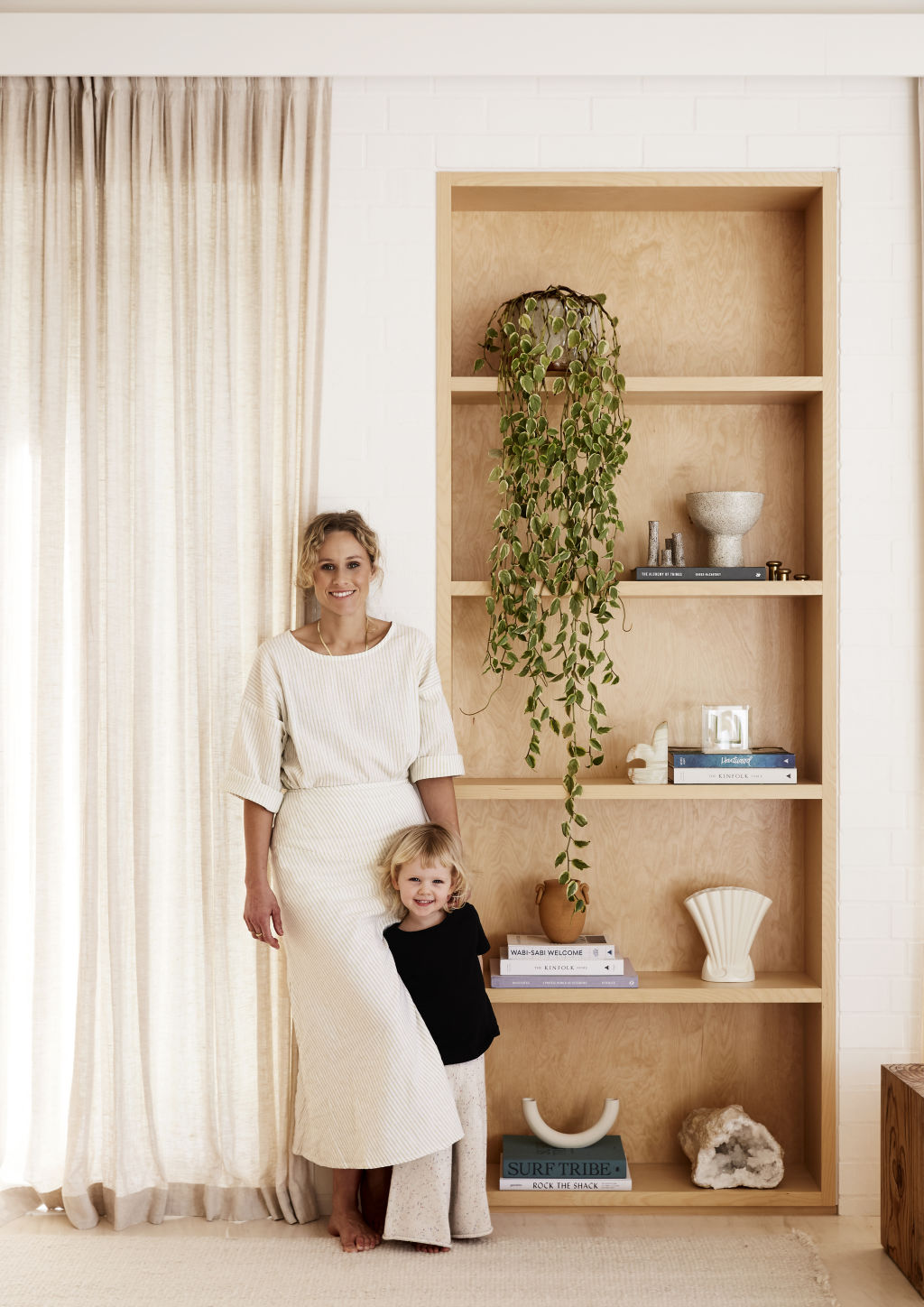 Alex and Scout at home. Styling: Annie Portelli.