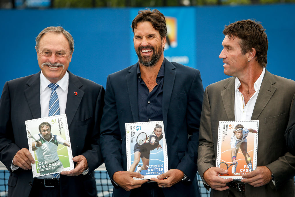 John Newcombe Pat Rafter and Pat Cash 2016