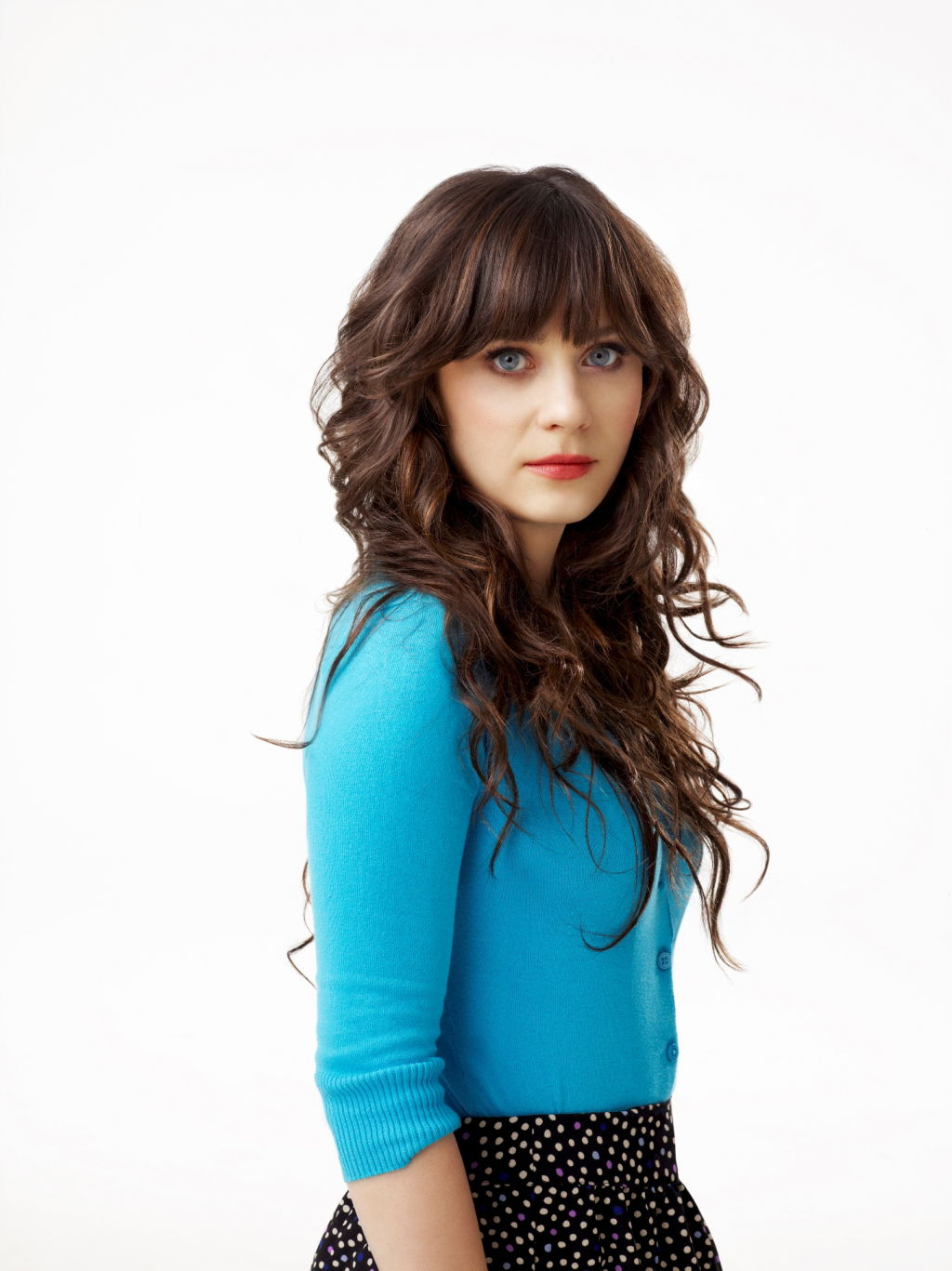 Actress Zooey Deschanel.