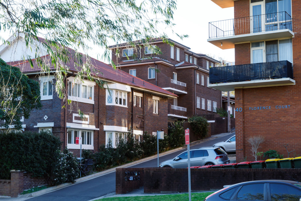 Apartments on Meeks Street in Sydney's Kingsford.
