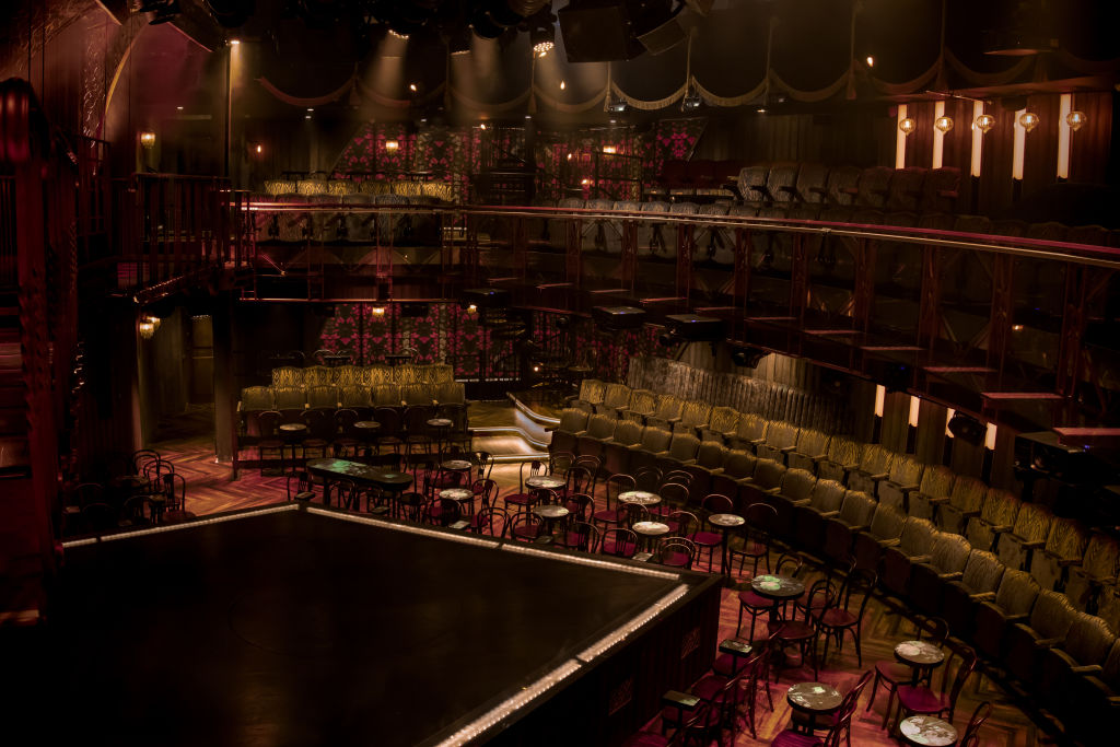Inside Magic Mike Live – a glimpse at the seating and the stage.