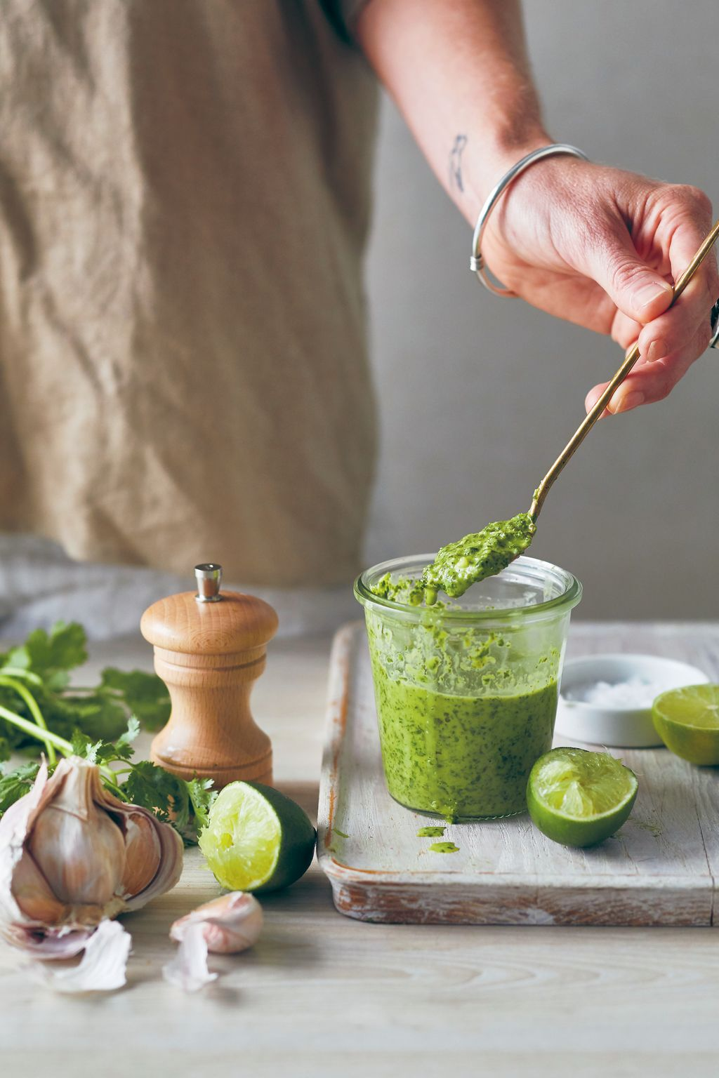 Coriander Lime and Garlic Dressing by Urban Growers.