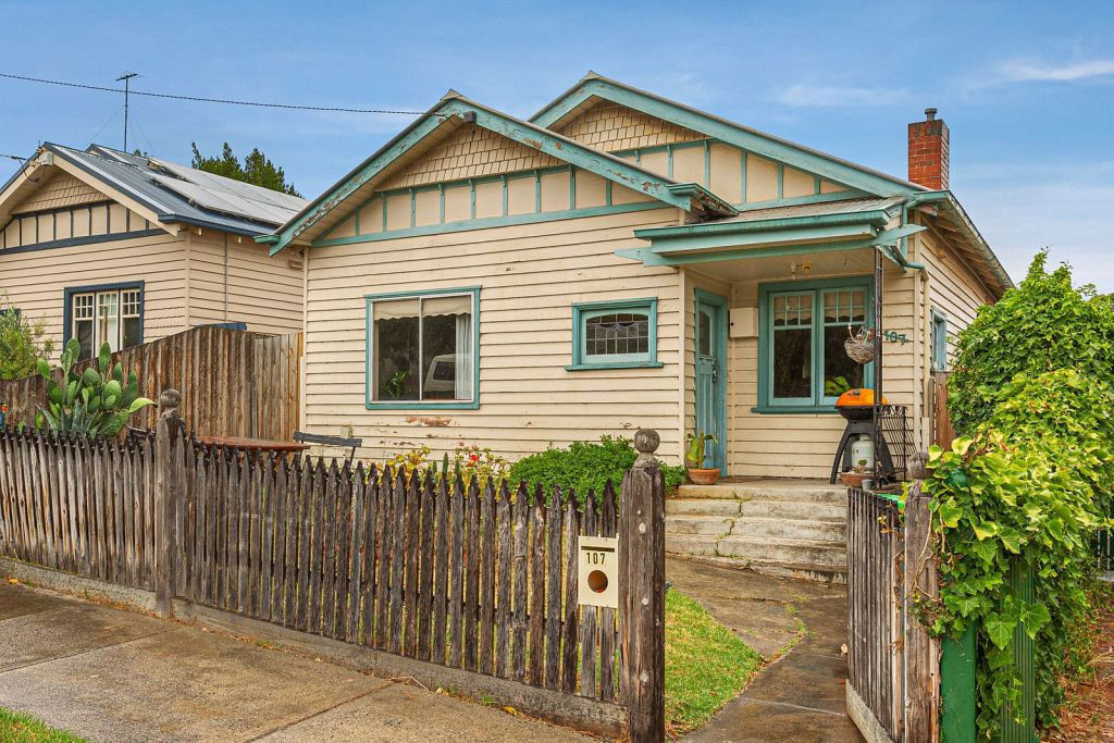 Buyers competed for the weatherboard cottage, despite its dated condition.