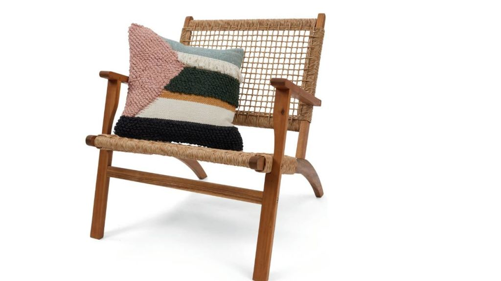 The timber occasional chair ($55) was recalled, then presumably 'tweaked' before arriving back at Kmart.