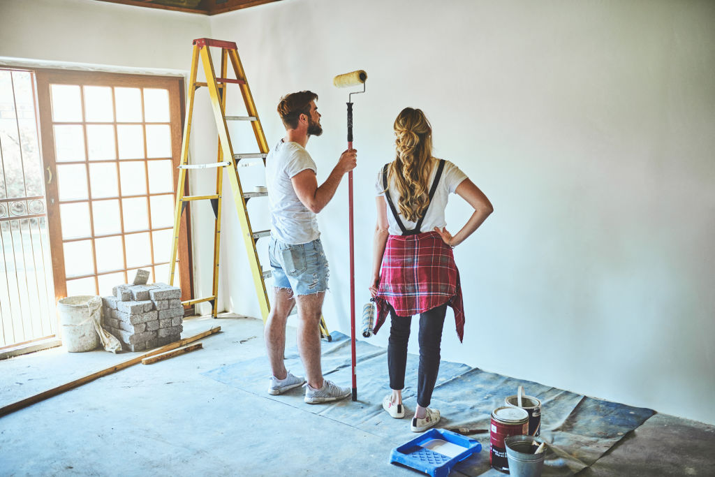 Painting is an simple and effective way to personalise a property to make it feel more like home.