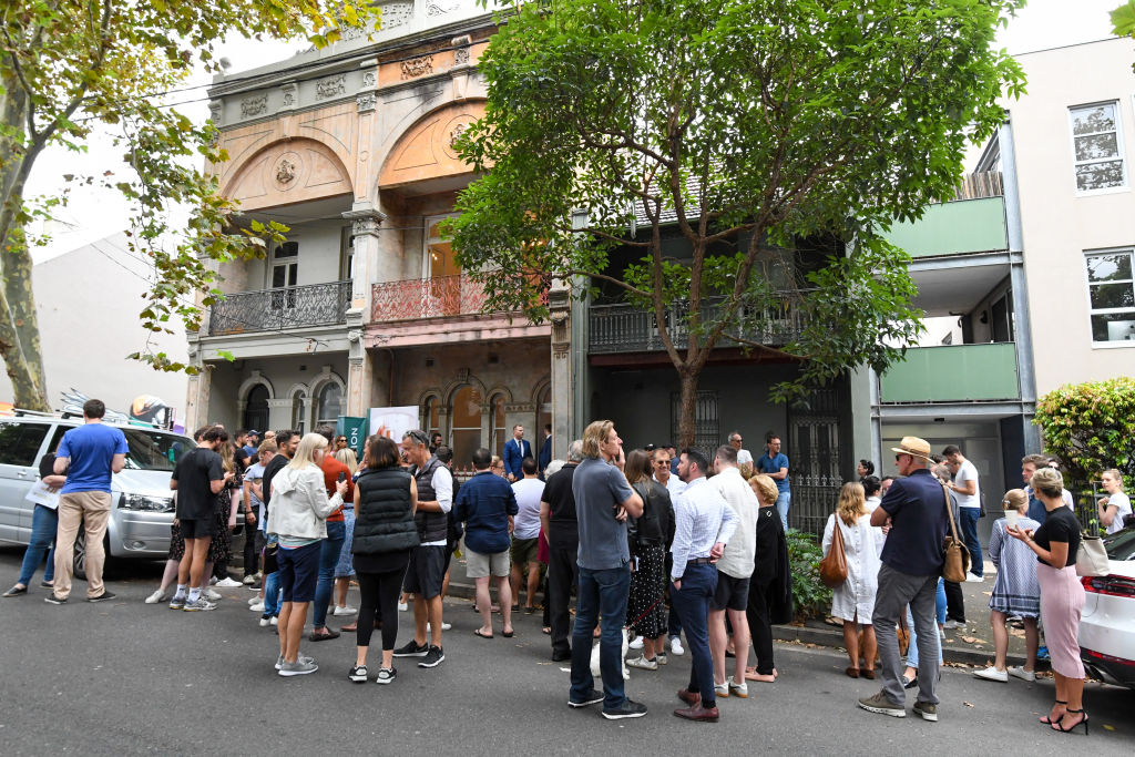 The auction for 448A Bourke Street, Surry Hills.