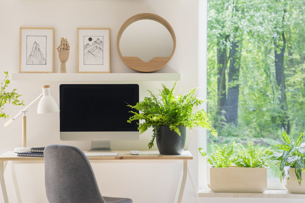 If possible, set up your home office in a pleasant location in the house, rather than in a dark or windowless room.