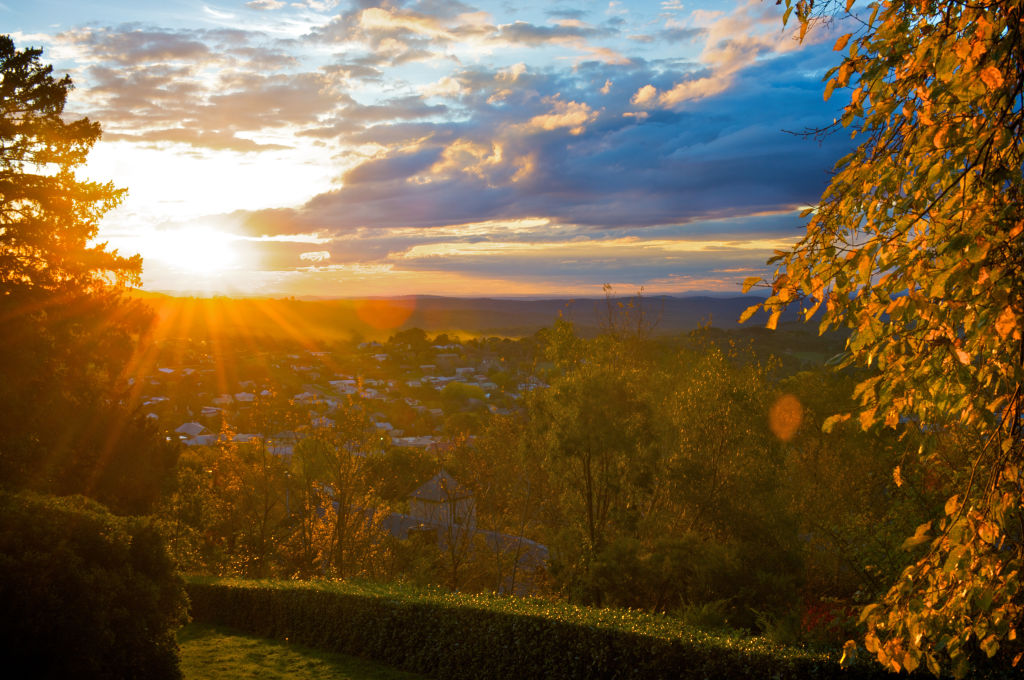 View of Daylesford from the Wombat Hill Botanical Gardens