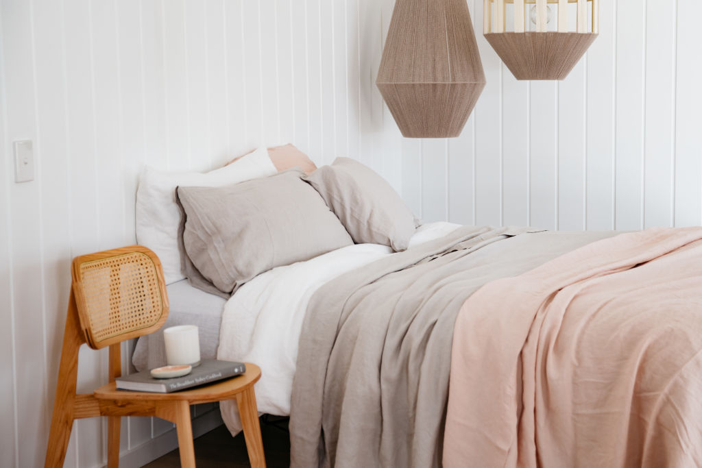 Carlotta + Gee's 100 per cent French bed linen
