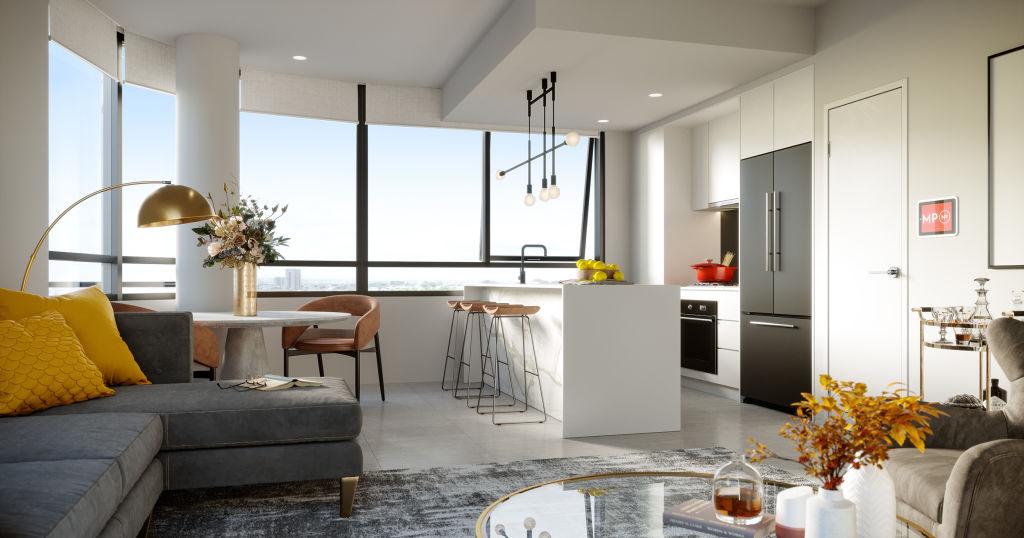Melrose Park North_Living room render