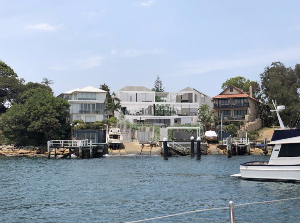 Artist's impression of the house proposed for 30 and 32b Pacific Street Watsons Bay