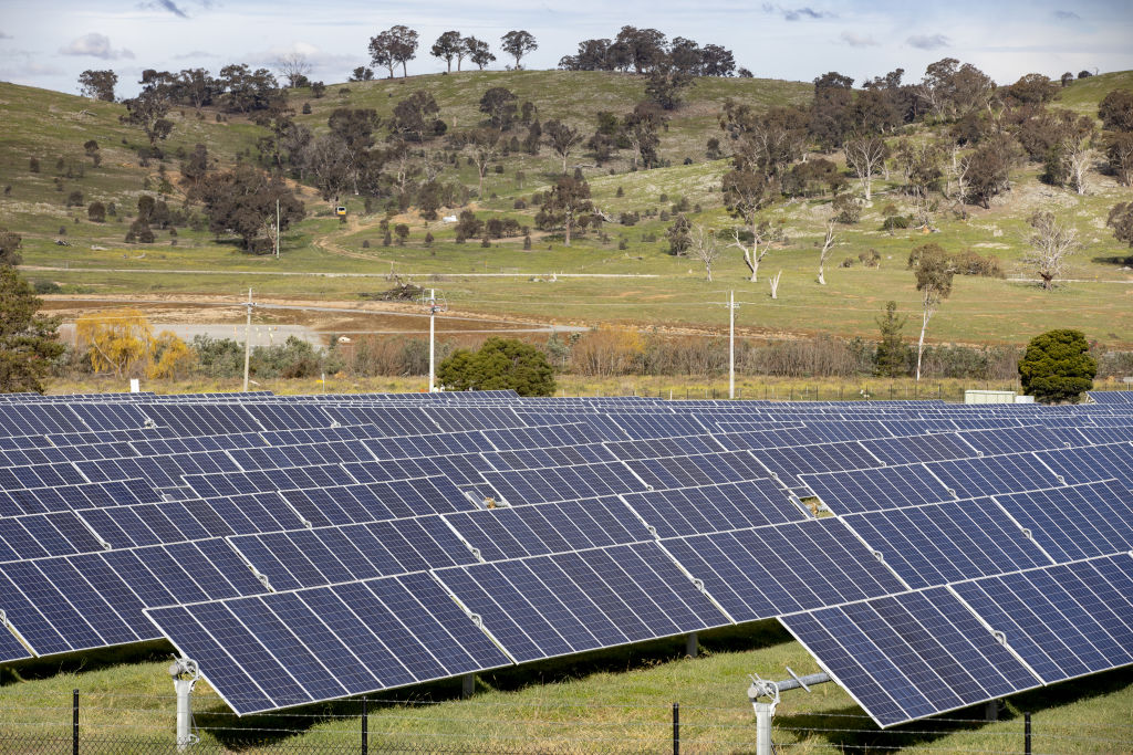 Mount Majura Solar Farm.