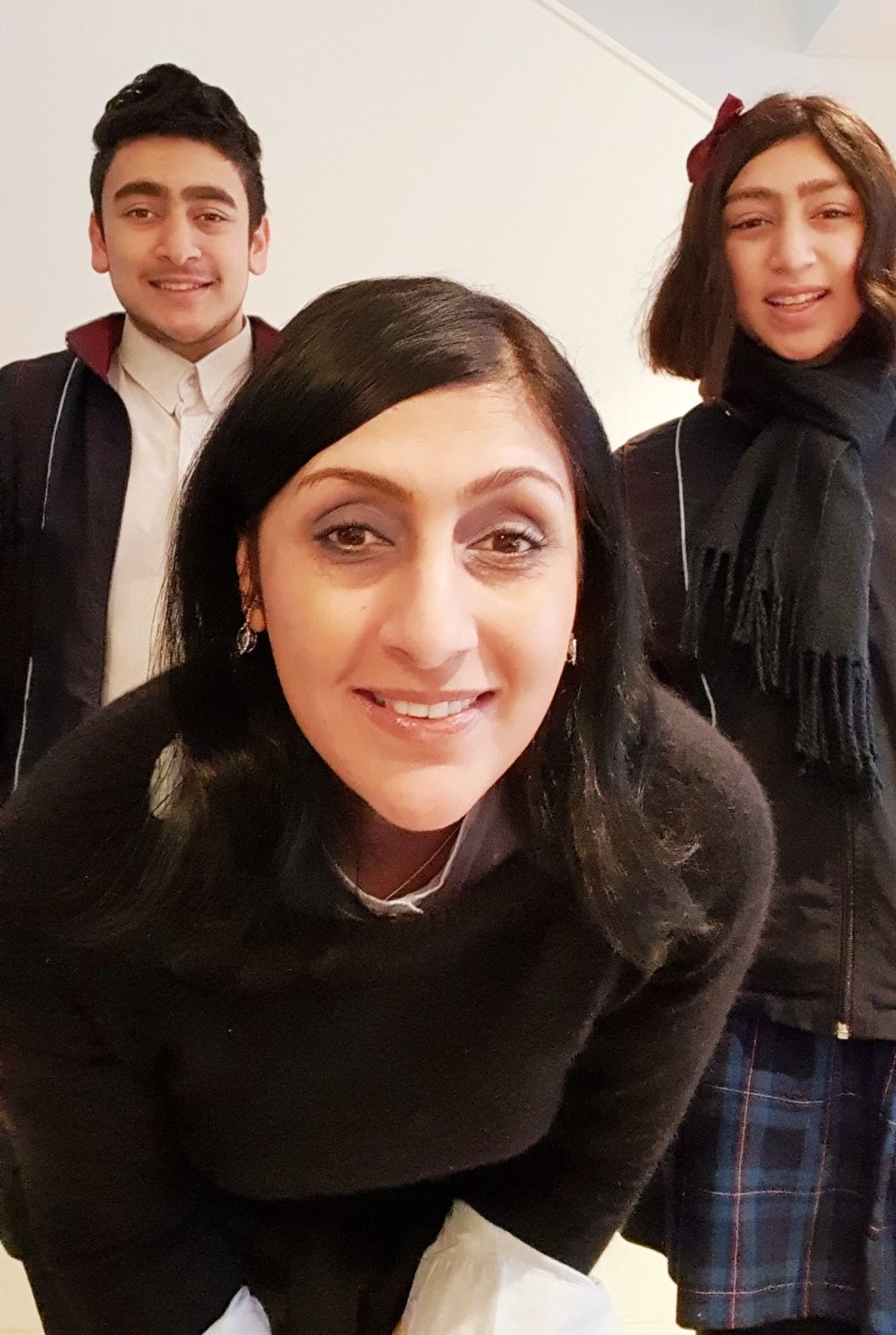Kripa Amour with Nikhil and Khushi.