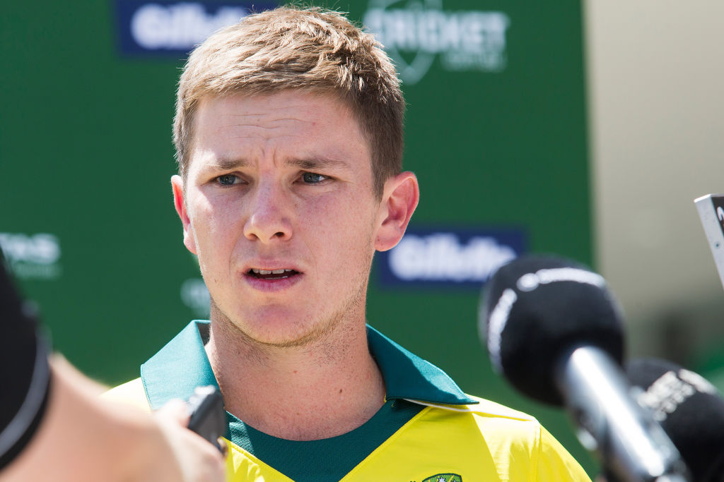 Adam Zampa addressed the media at the MCG, ahead of the Gillette One-Day International Series beginning at the MCG on Sunday. Photograph Paul Jeffers