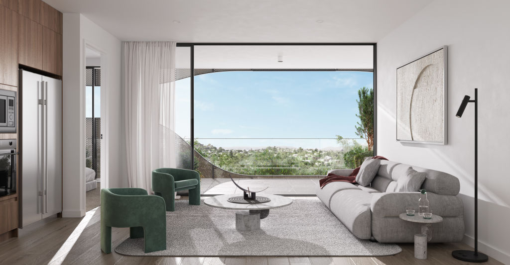 The Chaussy Lutwyche_Living room render