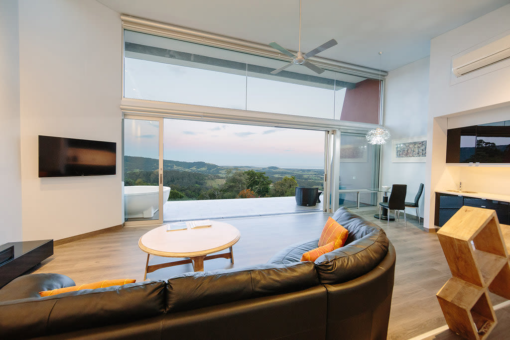 The Mt Hay Retreat, listed on Airbnb and Stayz.