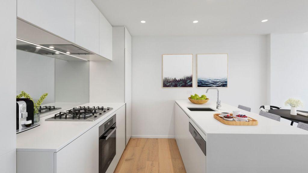 A kitchen at OSK Property's Melbourne Square