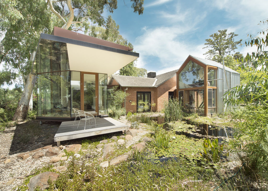 Adelaide Hills architect John Adam won a prize in this year's SA architectural awards for a house titled Through The Looking Glass.