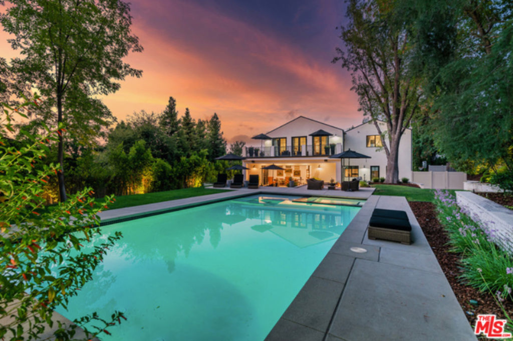 The two-storey Encino home has plenty of room for the growing family.