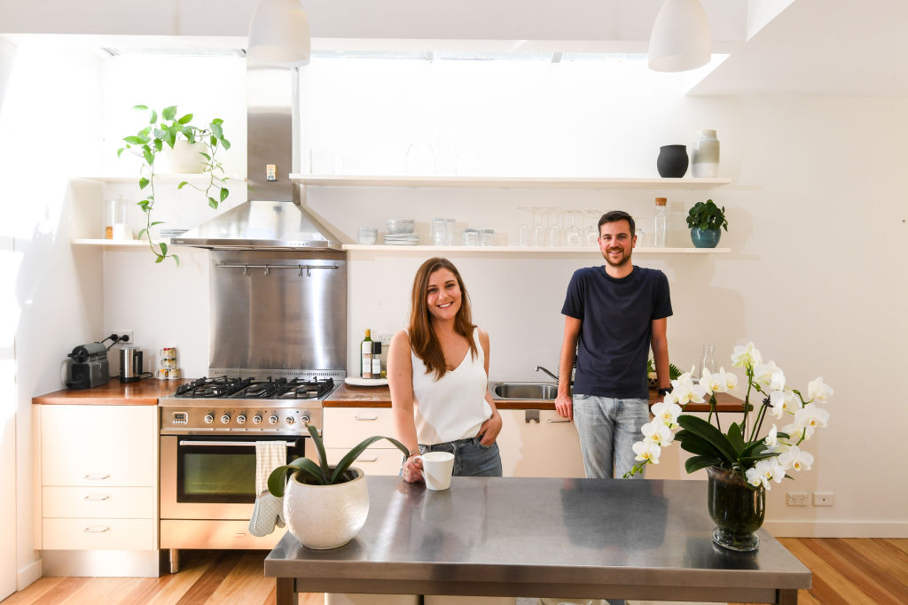 Ralf and his partner at their recently purchased home in Birchgrove, Sydney