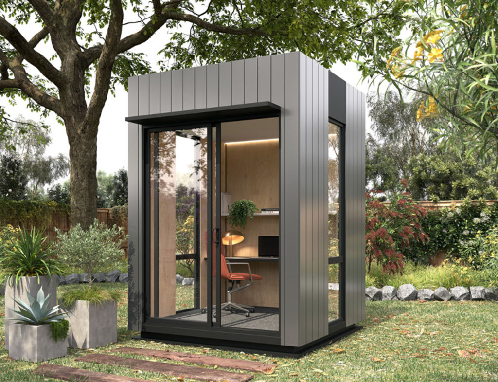 Backyard home office pods by Harwyn
