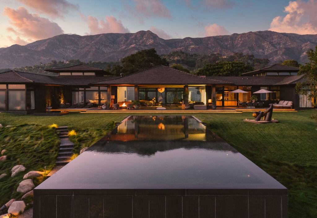 The Montecito home of Ellen DeGeneres.
