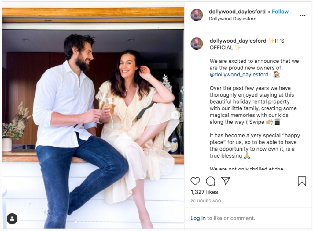 Megan Gale and Shaun Hampson announced their purchase on Instagram.