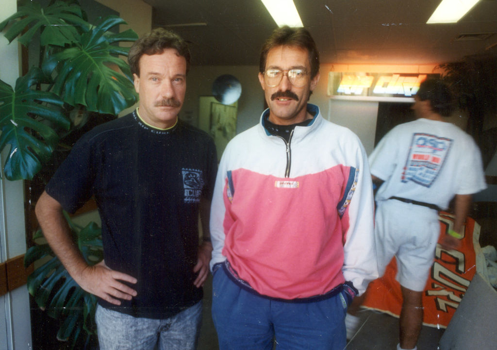 CAPTION : BRIAN SINGER LEFT AND DOUG WARBRICK CREATED THE COMPANY THAT IS SYNONYMOUS WITH SURFING
