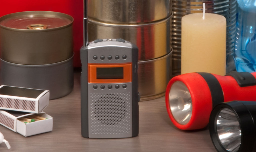 A battery-powered handheld radio can keep you informed if the power goes out.