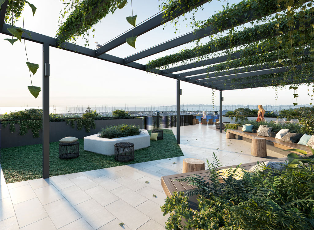 191 Stratton, Manly_Rooftop render