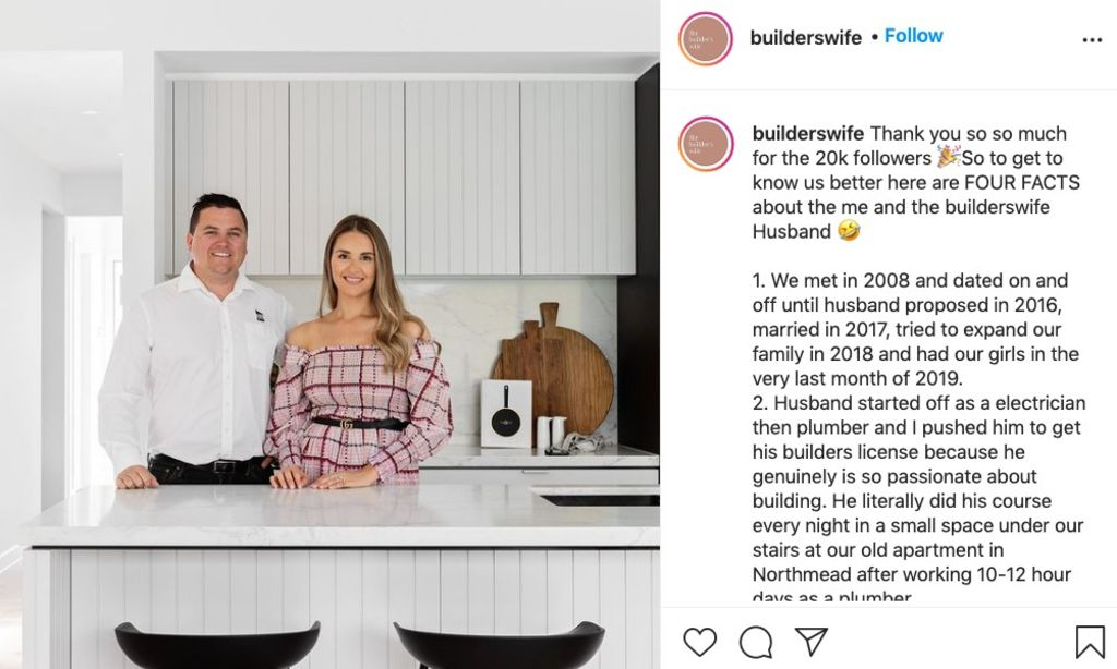 Veronica King is the 28-year-old creator The Builder's Wife, with 21,000 Instagram followers.